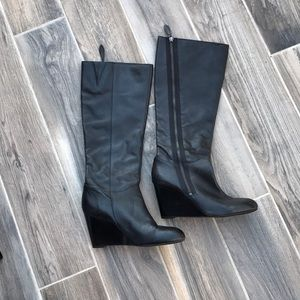 Franco sarto black leather boots sz9
